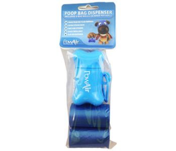 Poo Bag Dispenser includes 3 bag rolls